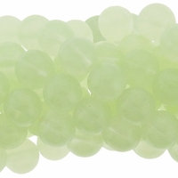 10mm Chrysoprase Round Glass Beads 16 Inch Strand
