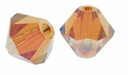 Crystal Copper 5328 3mm Swarovski Crystal XILION Bicone Beads (50PK)