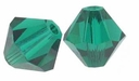 Emerald 5328 3mm Swarovski Crystal XILION Bicone Beads (50PK)