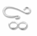 Silver Plated Hook & Eye Clasp (4PK)