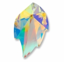Swarovski 6735 Leaf Crystal Pendants Crystal AB 32x20mm