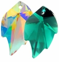Swarovski 32x20mm Leaf Pendants 6735
