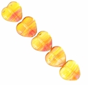 Czech Hurricane Glass Captured Sunset 6mm Heart Bead (25PK)