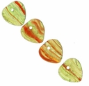 Czech Hurricane Glass Amazon Champaign 9mm Heart Bead(25PK)