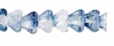 Baby Bell Flowers 4/6mm Blue/Crystal  (24PK)