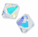 Crystal AB Swarovski 6301 Bicone 8mm Pendants