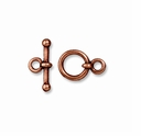 Antiqued Copper 3/8 Inch Anna's Toggle Clasp