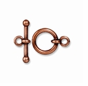 Antiqued Copper 1/2 Inch Anna's Toggle Clasp