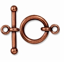 Antiqued Copper 3/4 Inch Anna's Toggle Clasp