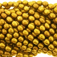 Golden Bronze Rice Freshwater Pearl 6-7mm Bead Strand