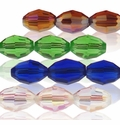 Majestic Crystal® Faceted 6x8mm Oval Crystal Beads