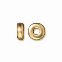 4mm Bright Gold Disk Heishi Spacers (10PK)