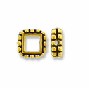Antique Gold 4mm Beaded Square Frame