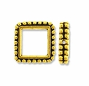 Antique Gold 6mm Beaded Square Frame