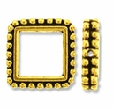 Antique Gold 8mm Beaded Square Frame