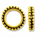 Antique Gold 8mm Beaded Round Frame