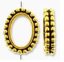 Antique Gold 6x9mm Beaded Oval Frame