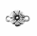 Antique Silver Flower Link