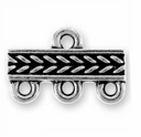 Antique Silver Braided 3-1 Link