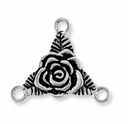 Antique Silver Rose Link