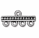 Antique Silver 1-4 Beaded Link