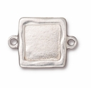 Antique Silver Simple Square Link