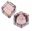 Light Amethyst 5601 Swarovski 8mm Cube Bead (1 cube)