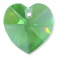 Peridot Swarovski 6202 10mm Crystal Heart Pendants