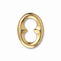Bright Gold Oval Quatrefoil Link