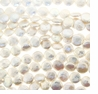 White Coin Freshwater Pearl 11mm Bead Strand