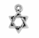 Pewter Silver Small Star Of David Charm