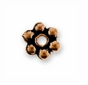 3mm Antique Copper Beaded Heishi Spacer (10PK)