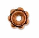 5mm Antique Copper Beaded Spacer Bead (10PK)