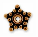 7mm Antique Copper Star Spacer Bead (10PK)
