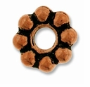 Antique Copper 8mm Lg. Hole Spacer Bead
