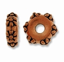 Antique Copper 10mm Lg. Hole Flower Spacer Bead