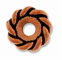 Anti. Copper 10mm Twisted Lg. Hole Spacer Bead