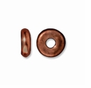5mm Antiqued Copper Disk Heishi  Spacers (10PK)