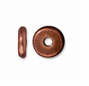 6mm Antiqued Copper Disk Heishi  Spacers (10PK)