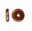 7mm Antiqued Copper Disk Heishi  Spacers (10PK)