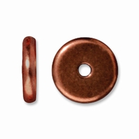 8mm Antiqued Copper Disk Heishi  Spacers (10PK)