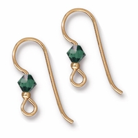 Gold Filled 2mm Tourmaline Crystal Earwire (1PR)