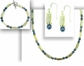 Blue Moonlight Necklace Bracelet and Earring Set
