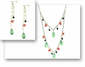 Watermelon Splash Necklace and Earring Set