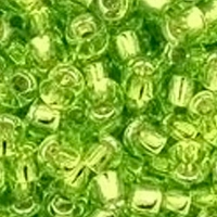 TOHO 8/0 Seed Bead:  Silver-Lined Lime Green (10g)