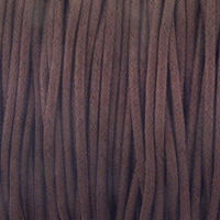 Brown 2mm Waxed Cotton Craft Cord (1YD)