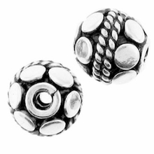 Bali Style Sterling Silver 6mm Round Sterling Silver Bead (1PC)