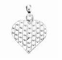 Sterling Silver Filigree Heart Pendant  (1PC)