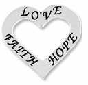 Affirmation Heart �Love, Faith, and Hope� (1PC)