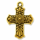 Antique Gold Talavera Cross